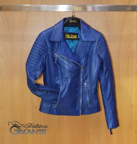 CAZADORA P/ WAX BIKER BLUE